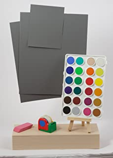 DGK 彩色工具 R-27,18% 灰色白色平衡和曝光控制卡套装(三张卡片,两张 20.32 x 25.4 厘米,一张 10.16 x 12.7 厘米)