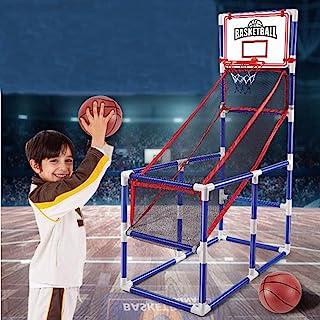Vatocu 蓝色街机篮球篮筐游戏篮球射击训练玩具室内篮球街机游戏适合 2 至 14 岁儿童