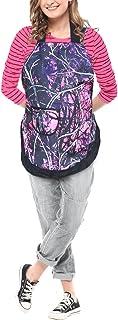 Muddy Girl 粉色迷彩围裙 紫色 粉色 黑色 迷彩褶皱女主人围裙 OSFM S-XL
