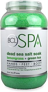 BCL SPA 死海盐浸泡柠檬草 + 绿茶,富含手部、脚部和身体*剂,130 盎司(约 3.6 克)