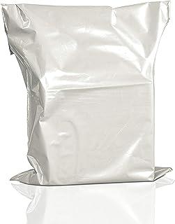 白色邮寄包裹信使邮袋塑料邮政自封胶粘塑料袋(55.88 x 76.24 厘米 - 50 件装)
