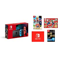任天堂 Nintendo Switch主机 Joy-Con(L)霓虹蓝/(R)霓虹红(电池持续时间长后的款) &【任天堂…