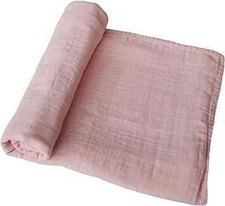 mushie Muslin 婴儿襁褓毯 | * *棉 玫瑰香草
