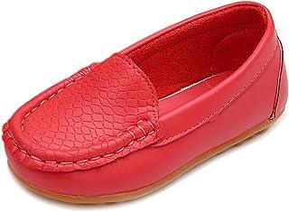 LONSOEN 幼童男孩女孩软脚蹬乐福鞋平底鞋