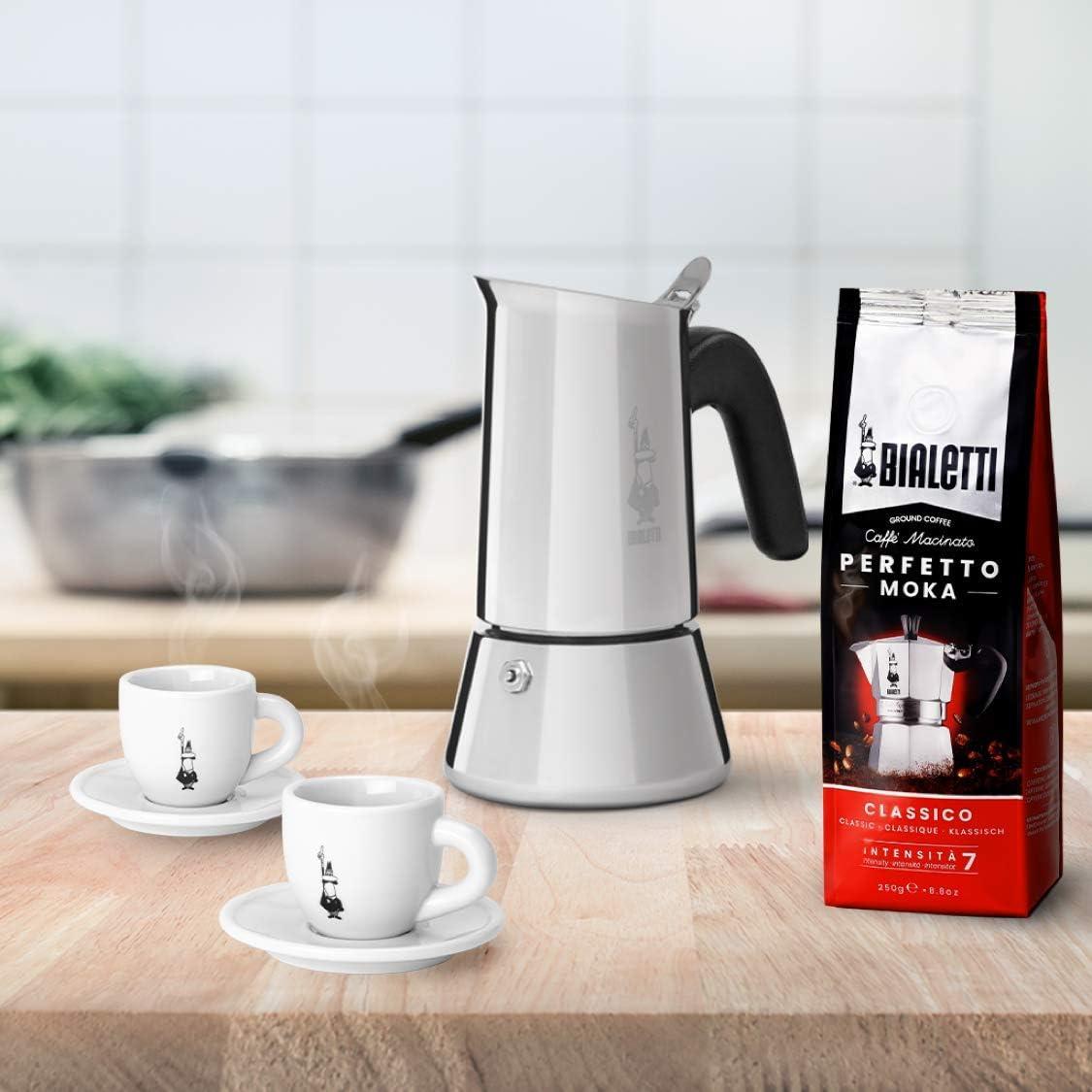 医用级不锈钢,电磁炉可用:4杯量 比乐蒂 新款venus不锈钢电热意式摩卡咖啡壶