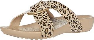 Crocs 卡骆驰 女式 Crocsserena Prntd Crssbnd Sldw 人字拖休闲时光和运动鞋