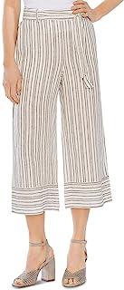 Vince Camuto 女式亚麻条纹休闲裤