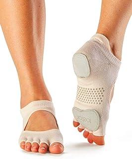 toesox 瑜伽女士舞袜 - 防滑抓握 蓝色 Prima Bellarina 半脚趾