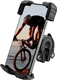 Haisito 摩托车手机支架,带*锁夹臂防抖 360° 可旋转自行车摩托车配件适用于 4.7 英寸 - 7 英寸手机