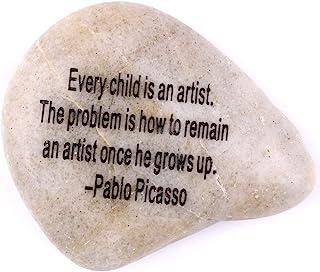 """雕刻鼓舞人心的宝石系列 - 石七:巴勃罗·皮卡索:""""每个孩子都是艺术家。 问题在于它在成长后如何保持艺术家。"""""""