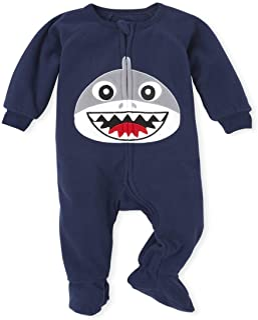The Children's Place 男孩婴幼儿 Dad and Me 鲨鱼羊毛配套连体睡衣