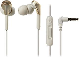 audio-technica SOLID BASS 智能手机入耳式耳机 重低音 支持高解析度音源 香槟金 ATH-CKS550XiS CG