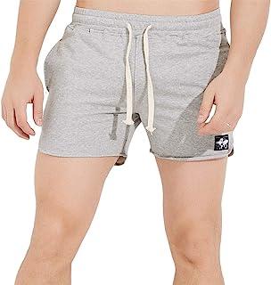JackieLove 男式 3 英寸(约 7.6 厘米)短款修身健身锻炼汗衫跑步运动休闲短裤
