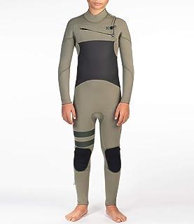 Hurley B Advantage Plus 4/3 全套装潜水服,男孩,暮光沼泽,14