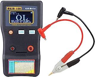 电容测试仪电路测试仪,Kecheer MESR-100 ESR 电容欧姆仪专业测量电容电阻电容电路测试仪,带 SMD 测试夹