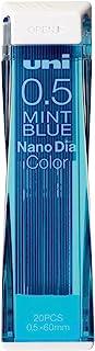 MITSUBISHIPENCIL 三菱铅笔 可擦彩色笔芯 纳米钻颜色 0.5 薄荷蓝 10个