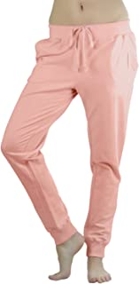 ToBeInStyle 女式纯色印花法式厚绒布慢跑裤