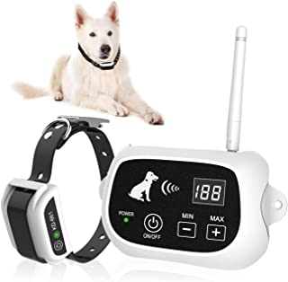 XIAXUE 无线狗栅栏系统,宠物控制系统,宠物狗控制系统边界容器,带 IP65 防水狗狗训练项圈接收器