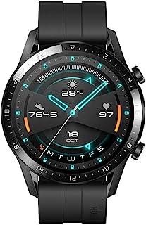Huawei 华为 GT 2(46毫米)智能手表,1.39英寸AMOLED显示屏,2周电池寿命,GPS,15种运动模式,3D玻璃屏幕,蓝牙通话,哑光黑