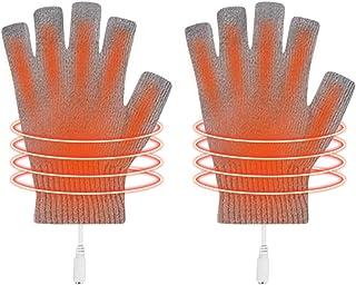 DOCHI QUEEN USB 加热手套男女手套加热无指加热加热器可水洗设计冬季礼品半指加热工作手套