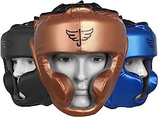 Jayefo 运动头部护具适用于 {Boxing} {MMA} {跆拳道} {泰拳} {SELF Defence} TRAINIG 装备保护头盔 武术适合青年、男士和女士 5 年保修。