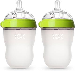 Comotomo 可么多么 婴幼儿奶瓶,绿色,8盎司(约226.80克),2件
