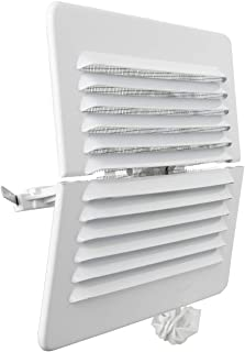 La Ventilation LBDFR1916AB 通风格栅 矩形折叠 白色涂漆铝材质 带昆虫网 尺寸 193 × 165 毫米