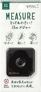 MIDORI XS 卷尺 1.5m 黑色