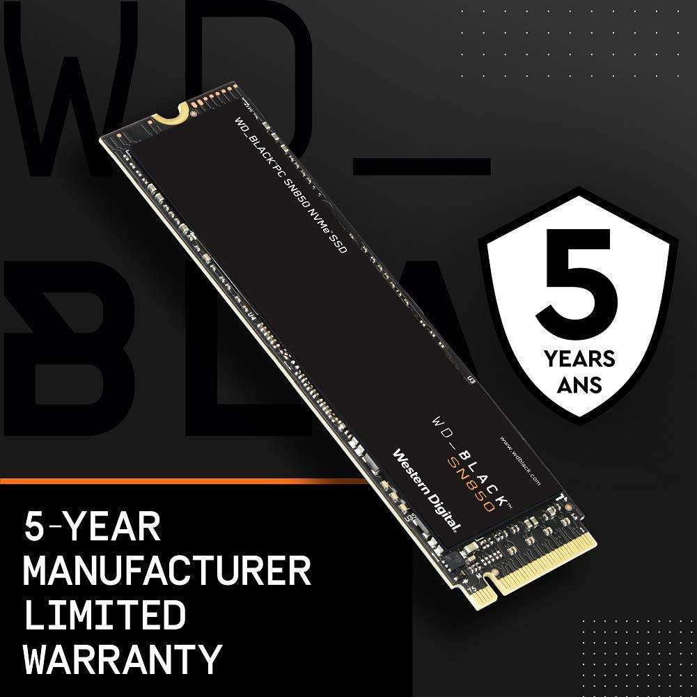 读速7000+,PCIe Gen4技术:2TB 西部数据 SN850 NVMe SSD固态硬盘