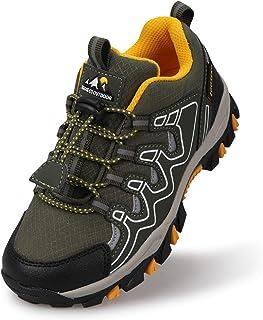 Eggseed 男童鞋男童运动鞋轻便户外鞋橡胶儿童休闲鞋防滑男孩防水徒步鞋透气健身小童尺码 10 - 大童尺码 6.5