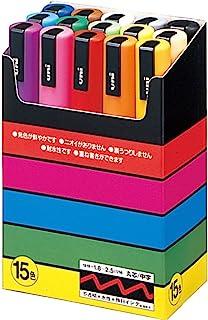 MITSUBISHI 三菱 水性笔 POSCA 中字 圆芯 15色套装 PC5M15C