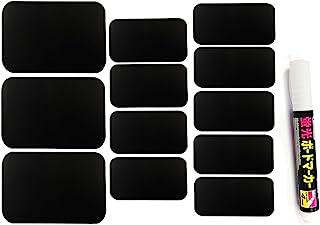 可包装黑板标签,带粉笔标记,一套 32 个