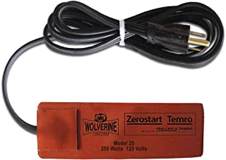 Zerostart 3400100 硅胶垫加热器发动机油,传动液,储液罐和液压流体加热器,2.75 英寸 x 6.5 英寸(约 5.9 厘米 x 15.2 厘米)| 120 伏 | 250 瓦