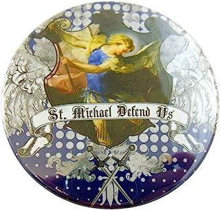 Westman Works Gifts St Michael Defend Us 纽扣大号警察和士兵圣别针守护者