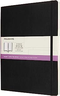 Moleskine 笔记本,横格,黑色,超大,软封面(7.5 X 10)