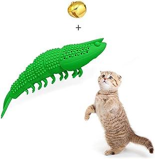 WeTest 天然橡胶互动猫牙刷 猫薄荷玩具 - 可填充猫薄荷形状宠物清洁咀嚼牙刷玩具(*)(LJ-ZXS-120202)