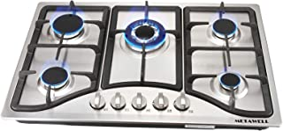 30 英寸(约 76.2 厘米)燃气灶,内置 5 个炉灶,110V 不锈钢燃气灶,NG/LPG 燃气灶,厨房炉灶