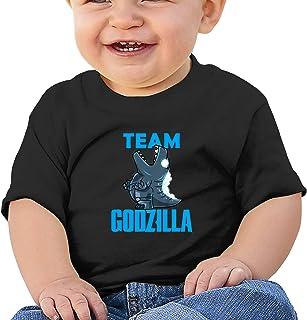 PIOLINBA God-Zilla 柔软棉质衬衫舒适儿童 T 恤短袖 6 个月-2T