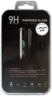 A&M 钢化玻璃屏幕保护膜适用于 iPhone4