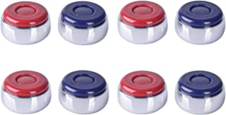 Naissgo Shuffleboard 冰球套装 8-4 红色和 4 个蓝色重型镀铬钢带 ABS 顶盖曲棍球测量 直径 (37.5mm)