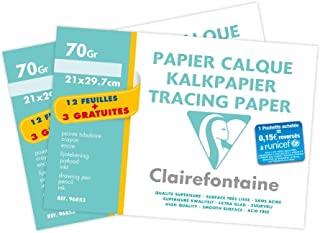 clairefontaine 绘图纸12支装 + 3张21x 297mm 2个装