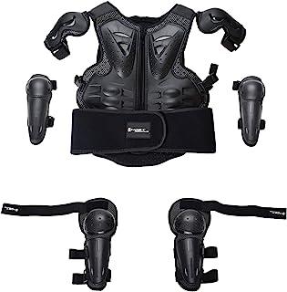 HBRT 儿童摩托车盔甲,儿童自行车防护装备夹克套装摩托车越野赛车亲子运动*装甲保护装置