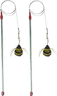 Go Cat Catcher 达蜜蜂猫玩具,美国手工制作(1 只蜜蜂) 2 件装