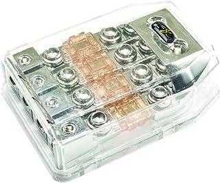 Stinger SHD821 HPM Series MANL/MIDI Fused Power Distribution Block with Satin Chrome Finish