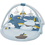 Fehn 065091 3D 活动垫 婴儿爬行垫 Little Castle/玩具曲架 配5 个可拆卸的玩具 婴儿玩乐用…
