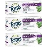 Tom's of Maine 护理牙膏,Toms牙膏,天然牙膏,留兰香,3件装,4.0盎司/113克