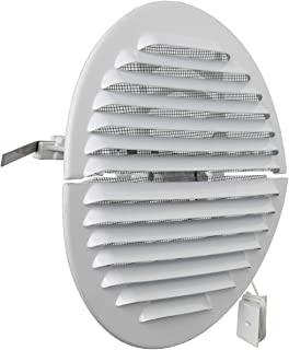 La Ventilation GABDF160R 通风格栅,圆形,可折叠,铝,白色喷漆,带昆虫网,直径175毫米