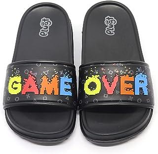 Plugt 男孩拖鞋滑梯游戏 | 一脚蹬儿童泳池沐浴海滩夏季
