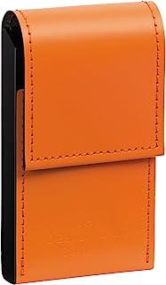 LIHIT LAB. 喜利 名片盒D1080男式商务大容量舒适皮革名片夹商务送礼 4#橘色