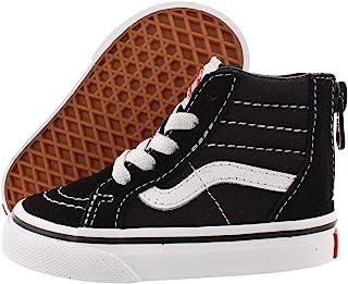 Vans 范斯幼儿 Sk8-Hi 拉链黑色/白色滑板鞋 VN000XG5Y28